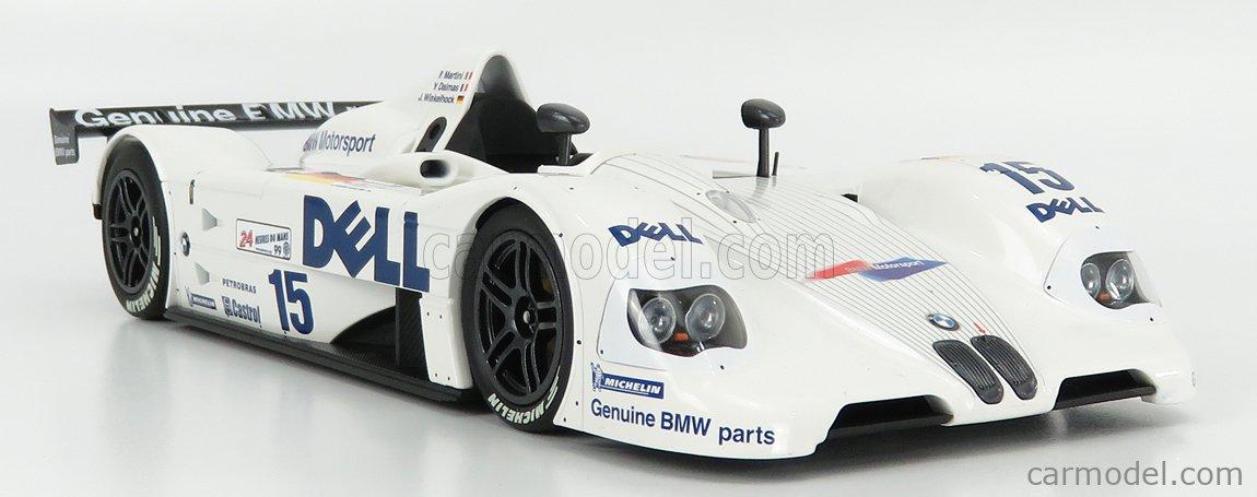 MINICHAMPS 80432454791 Масштаб 1/18  BMW V12 LMR TEAM BMW MOTORSPORT N 15 WINNER 12h SEBRING 1999 T.KRISTENSEN - J.J.LEHTO - J.MULLER WHITE