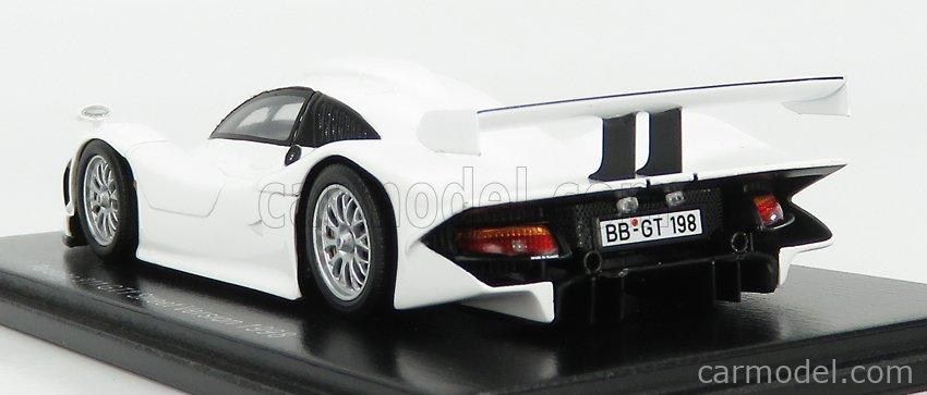 SPARK-MODEL S5998 Echelle 1/43  PORSCHE 911 GT1 STREET VERSION 1998 WHITE