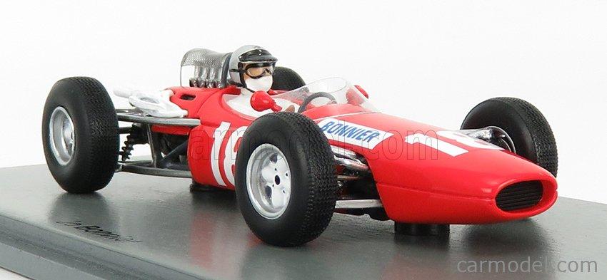 SPARK-MODEL S5248 Масштаб 1/43  BRABHAM F1  BT7 N 18 BRITISH GP 1966 J.BONNIER RED WHITE
