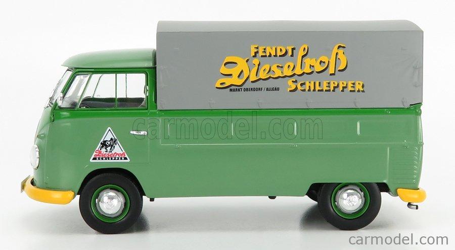 SCHUCO 450785600 Scale 1/32  VOLKSWAGEN T1b TELONATO FENDT 1962 GREEN GREY
