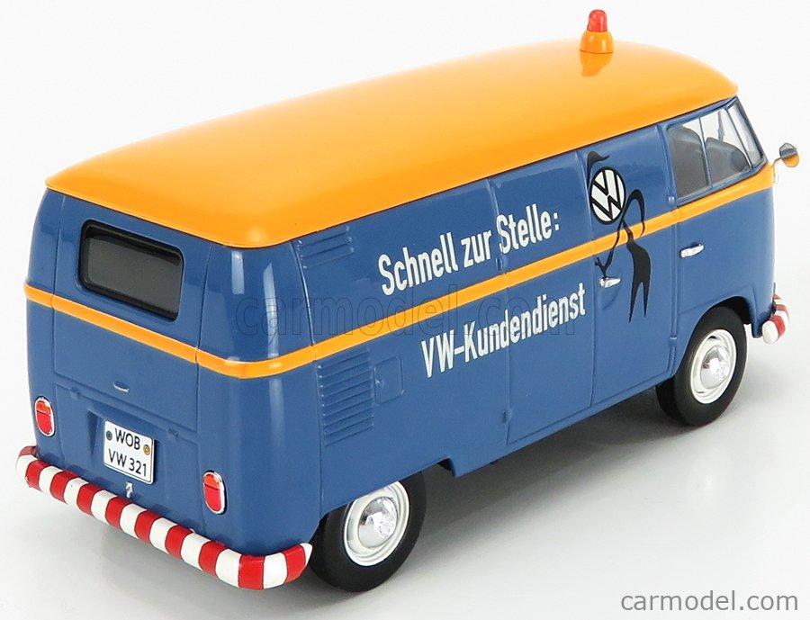 SCHUCO 450785500 Scale 1/32  VOLKSWAGEN T1b VAN VW-KUNDENDIENST 1962 BLUE YELLOW