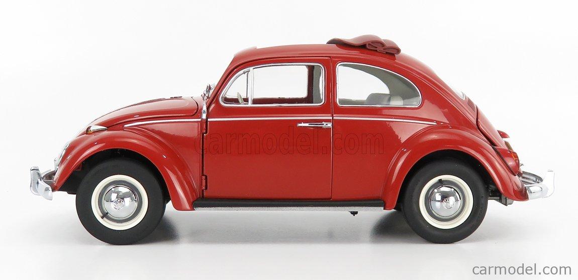 SCHUCO 450043300 Scale 1/18  VOLKSWAGEN BEETLE KAFER OPEN ROOF 1948 RED