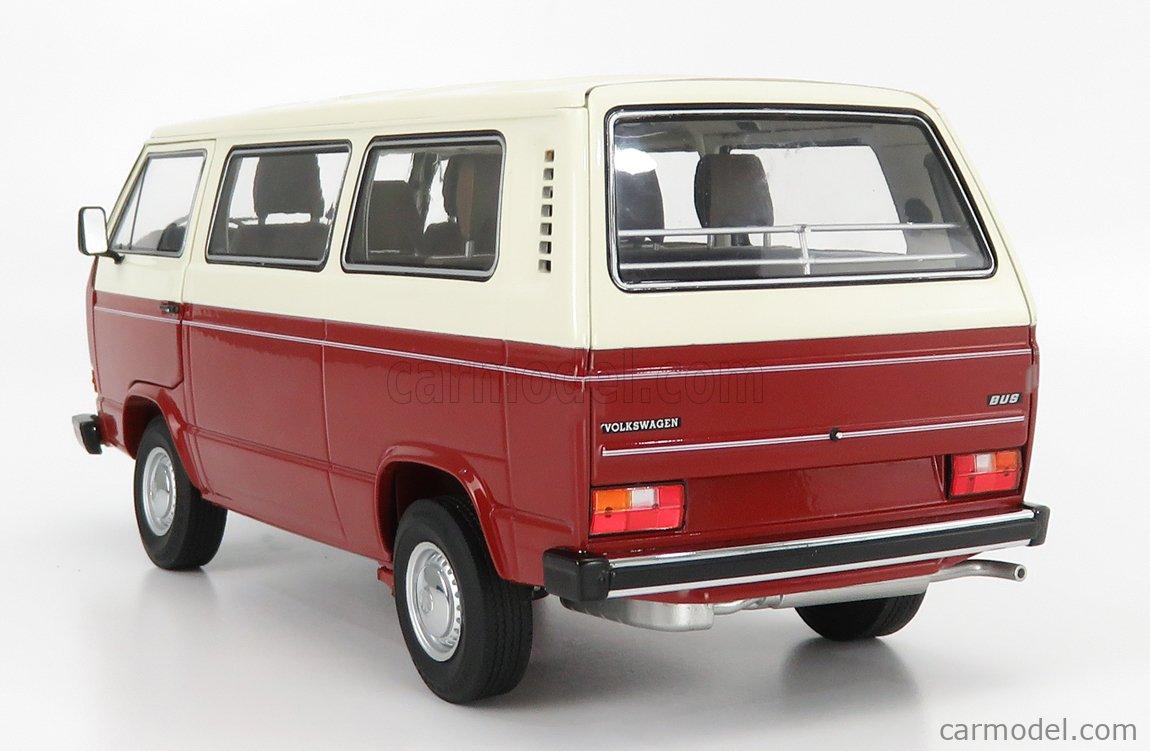 SCHUCO 450038100 Scale 1/18  VOLKSWAGEN T3a MINIBUS 1978 RED CREAM
