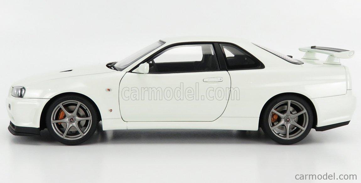 AUTOART 77406 Scale 1/18  NISSAN SKYLINE GT-R (R34) V-SPEC II 2001 WHITE PEARL