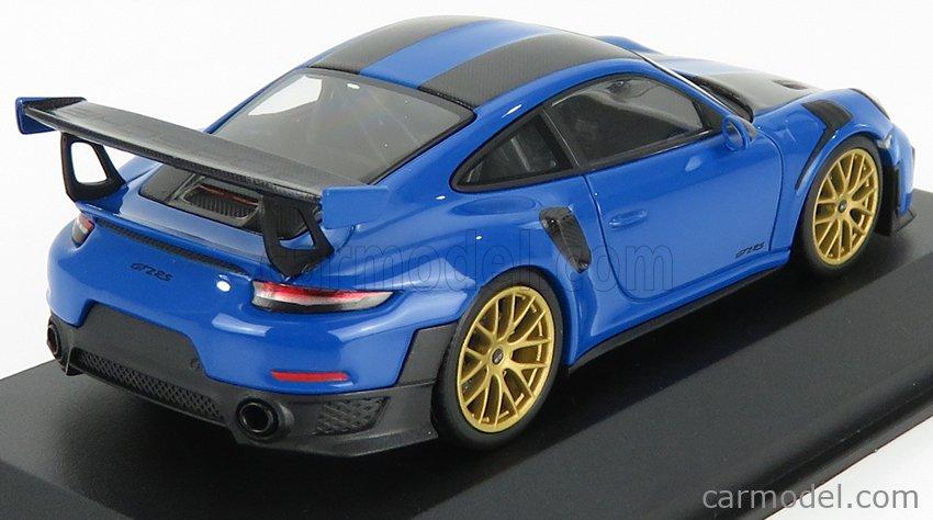 MINICHAMPS 413067233 Scale 1/43  PORSCHE 911 991-2 GT2 RS WEISSACH PACKAGE 2018 VOODOO BLUE BLACK
