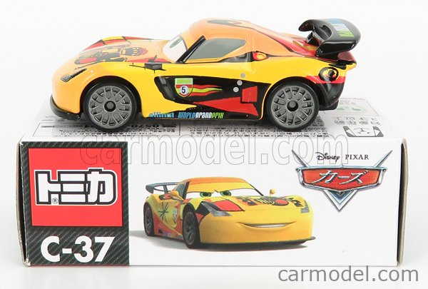 TOMICA C37 Scale 1/64  WALT DISNEY PIXAR CARS - MIGUEL CAMIO YELLOW