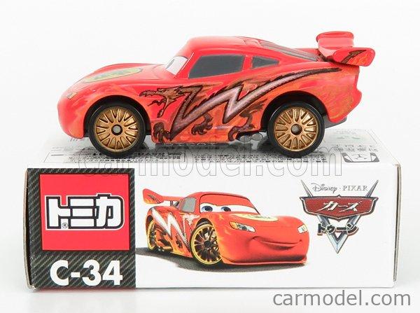 TOMICA C34 Scale 1/64  WALT DISNEY PIXAR CARS - LIGHTNING MCQUEEN RED
