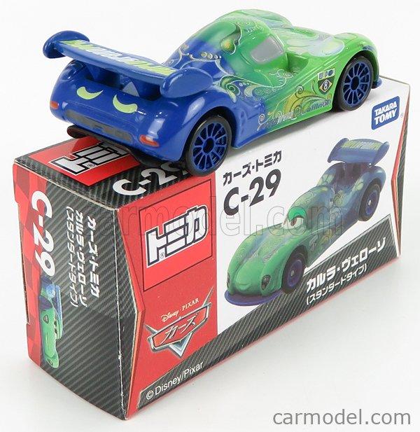 TOMICA C29 Scale 1/64  WALT DISNEY PIXAR CARS - CARLA VELESCO GREEN BLUE