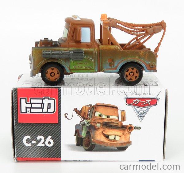 TOMICA C26 Scale 1/64  WALT DISNEY PIXAR CARS - TOW-MATER A BROWN GREEN