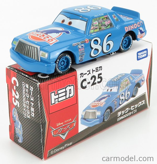 TOMICA C25 Scale 1/64  WALT DISNEY PIXAR CARS - CHICK HICKS DINOCO N 86 LIGHT BLUE