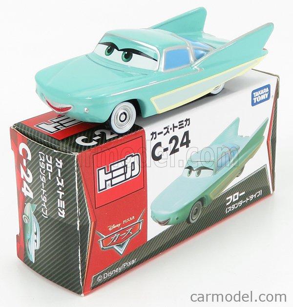 TOMICA C24 Scale 1/64  WALT DISNEY PIXAR CARS - FLO VERY LIGHT GREEN