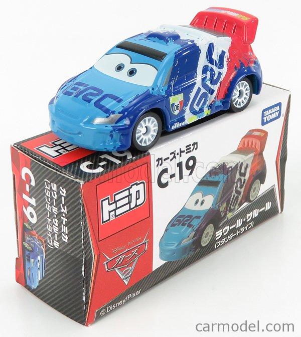 TOMICA C19 Scale 1/64  WALT DISNEY PIXAR CARS - RAOUL CAROUL BLUE WHITE RED