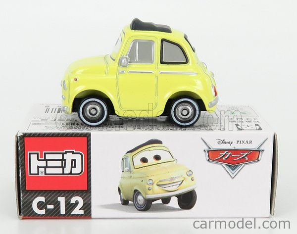 TOMICA C12 Scale 1/64  WALT DISNEY PIXAR CARS - FIAT 500 LUIGI YELLOW