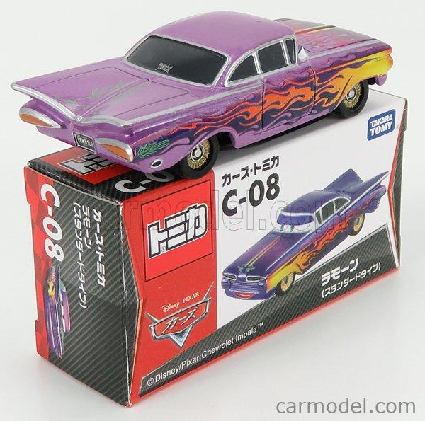 TOMICA C08 Scale 1/64  WALT DISNEY PIXAR CARS - RAMON LILLAC