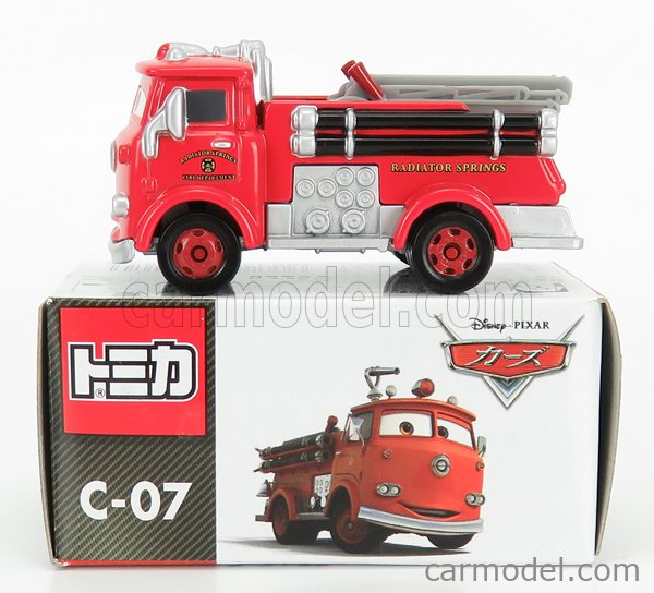 TOMICA C07 Scale 1/64  WALT DISNEY PIXAR CARS - TRUCK FIRE ENGINE RED