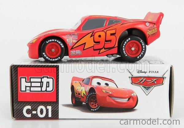 TOMICA C01 Scale 1/64  WALT DISNEY PIXAR CARS - LIGHTNING MCQUEEN RED