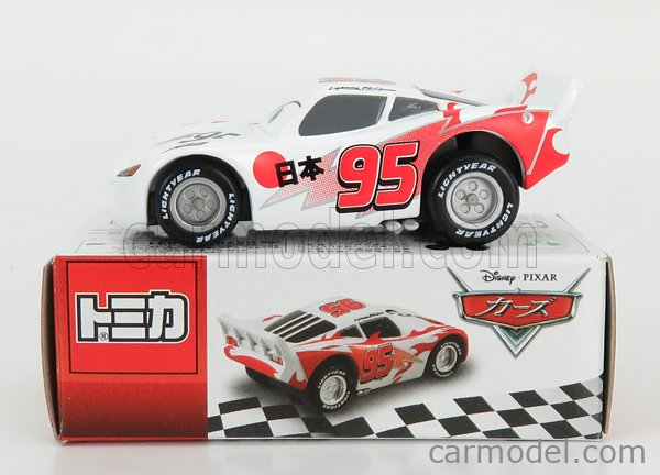 TOMICA 835974 Scale 1/64  WALT DISNEY PIXAR CARS - LIGHTNING MCQUEEN SHU TODOROKIL WHITE RED