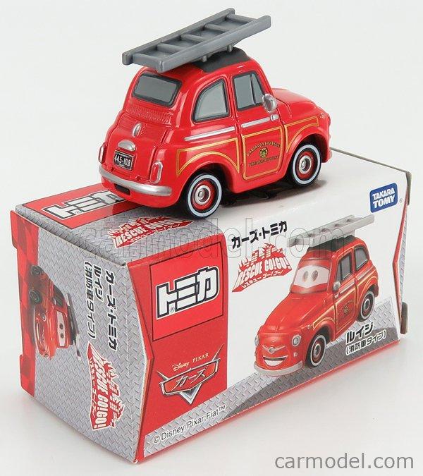 TOMICA 489016 Scale 1/64  WALT DISNEY PIXAR CARS - RESQUE GOGO LUIGI FIRE RED