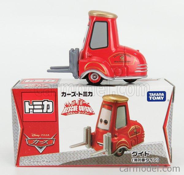 TOMICA 489009 Scale 1/64  WALT DISNEY PIXAR CARS - RESQUE GOGO GUIDO FIRE RED