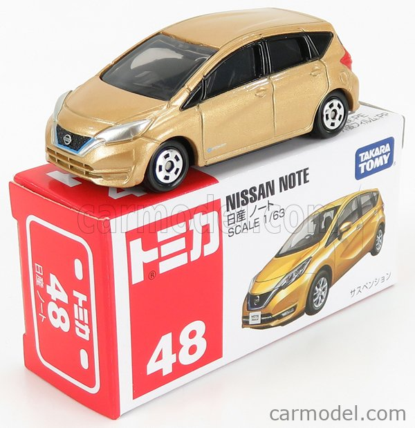 TOMICA 048-879787 Scale 1/63  NISSAN NOTE 2012 GOLD MET