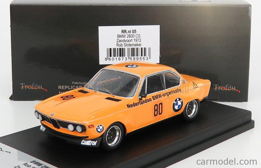 TROFEU TRRNL05 Scale 1/43  BMW 2800 CS COUPE N 80 ZANDVOORT 1972 R.SLOTEMAKER ORANGE