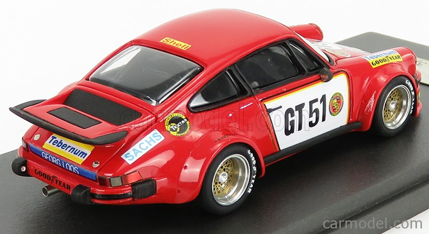 REMEMBER 144223 Echelle 1/43  PORSCHE 911 934 3.0L TURBO TEAM GELO RACING TEBERNUM LOOS N GT51 300km NURBURGRING 1976 T.HEZEMANS RED