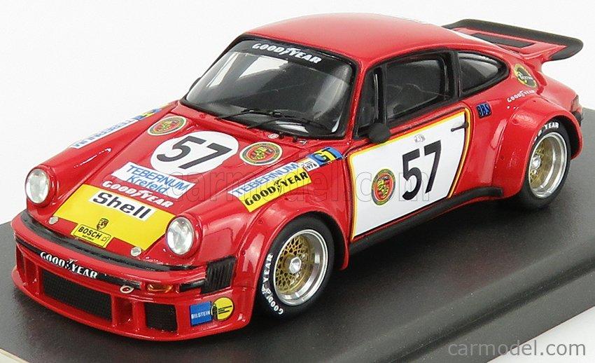 REMEMBER 144224 Scale 1/43  PORSCHE 911 934 3.0L TURBO TEAM GELO RACING TEBERNUM LOOS N 57 24h LE MANS 1976 T.HEZEMANS - T.SCHENKER RED