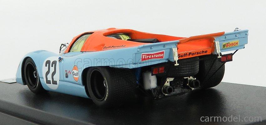 REMEMBER 144226 Scale 1/43  PORSCHE 917K 4.9L TEAM JOHN WYER AUTOMOTIVE ENGINEERING GULF N 22 24h LE MANS 1970 D.HOBBS - M.HAILWOOD LIGHT BLUE ORANGE
