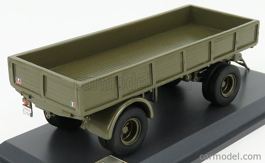 IV-MODEL TIPMK143 Masstab: 1/43  ACCESSORIES RIMORCHIO - TRAILER FOR 666 TRUCK CARABINIERI 1941 MILITARY GREEN