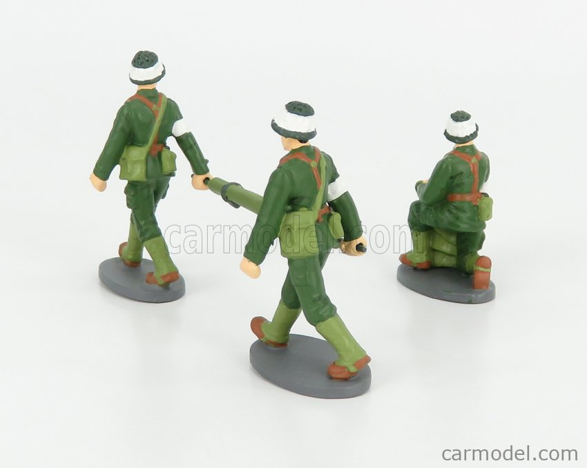 EDICOLA 13G02-03 Масштаб 1/43  FIGURES SET 3X FRENCH MILTARY SANITARY MEDICAL SOLDIERS CAMOUFLAGE