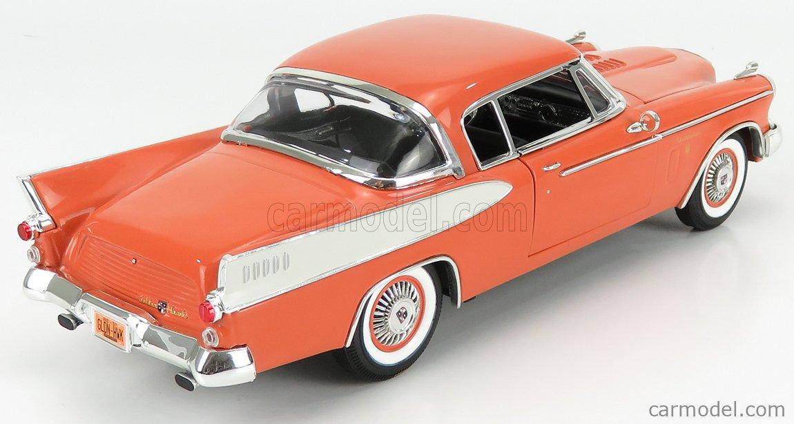 AUTOWORLD AW270/06 Scale 1/18  STUDEBAKER GOLDEN HAWK COUPE 1957 ORANGE WHITE