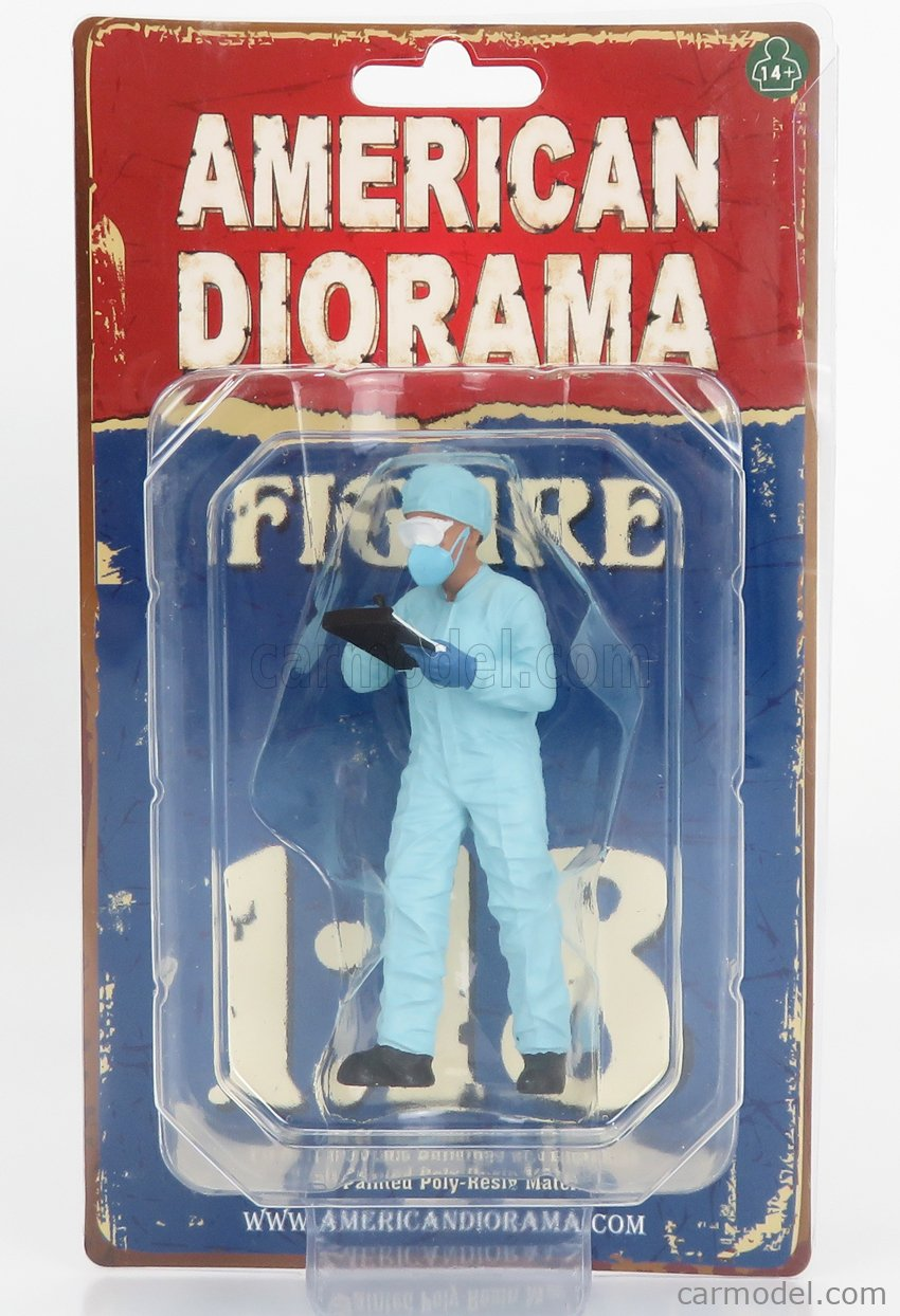 AMERICAN DIORAMA 76270 Masstab: 1/18  FIGURES MAN - HAZMAT CREW FIGURE VI LIGHT BLUE