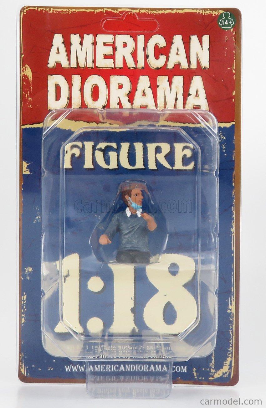AMERICAN DIORAMA 76269 Echelle 1/18  FIGURES MAN - HAZMAT CREW FIGURE III BLUE