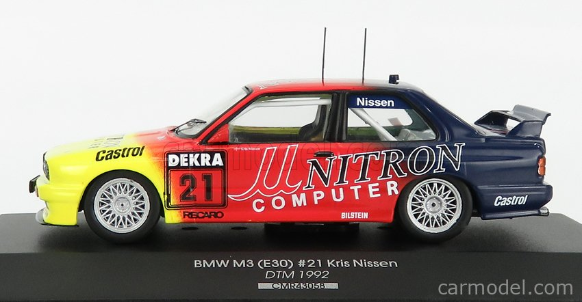 CMR CMR43058 Scale 1/43  BMW 3-SERIES M3 (E30) TEAM UNITRON SPORTS N 21 DTM SEASON 1992 KRIS NISSEN RED YELLOW BLUE