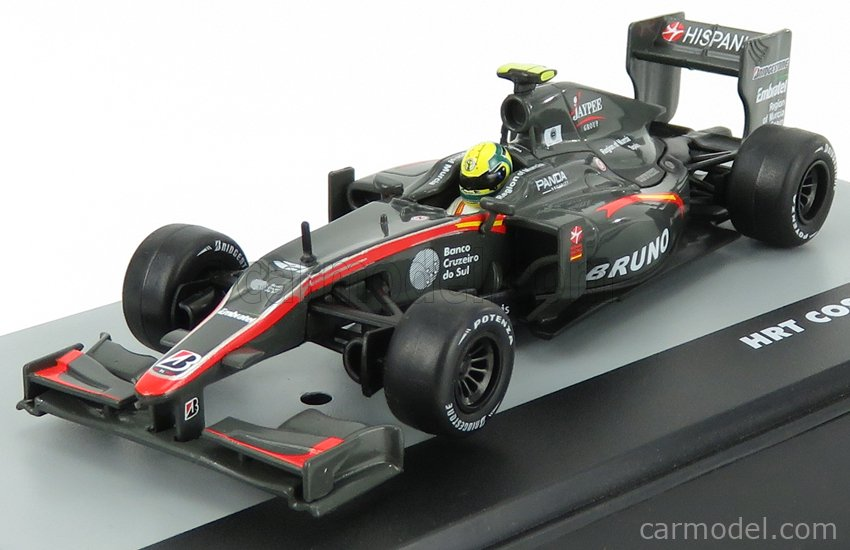 EDICOLA F1BRACOL023-32516 Scale 1/43  HRT F1  F110 COSWORTH N 21 BRAZILIAN GP 2010 BRUNO SENNA GREY MET RED