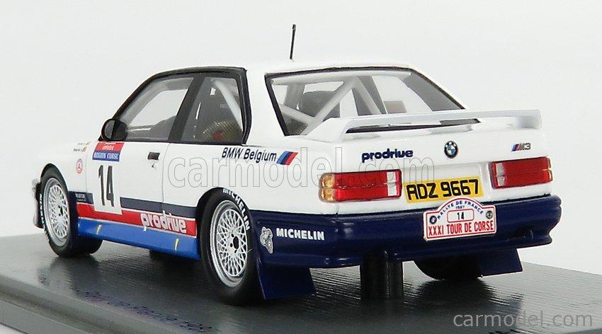 SPARK-MODEL SF149 Scale 1/43  BMW 3-SERIES M3 (E30) N 14 RALLY TOUR DE CORSE 1987 G.BIAR - M.DUEZ WHITE RED BLUE