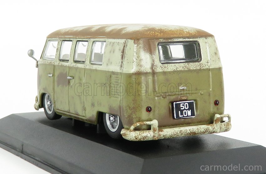 VANGUARDS VA14501 Scale 1/43  VOLKSWAGEN T2 MINIBUS CAMPER RAT-LOOK 1961 BROWN CREAM