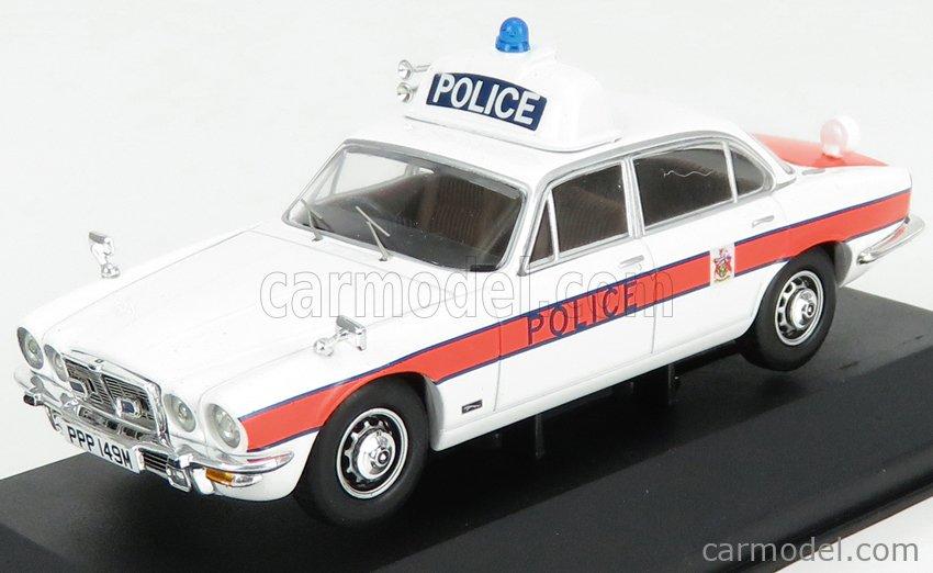 VANGUARDS VA13904 Echelle 1/43  JAGUAR XJ6 MKII 4.2L POLICE 1971 WHITE ORANGE