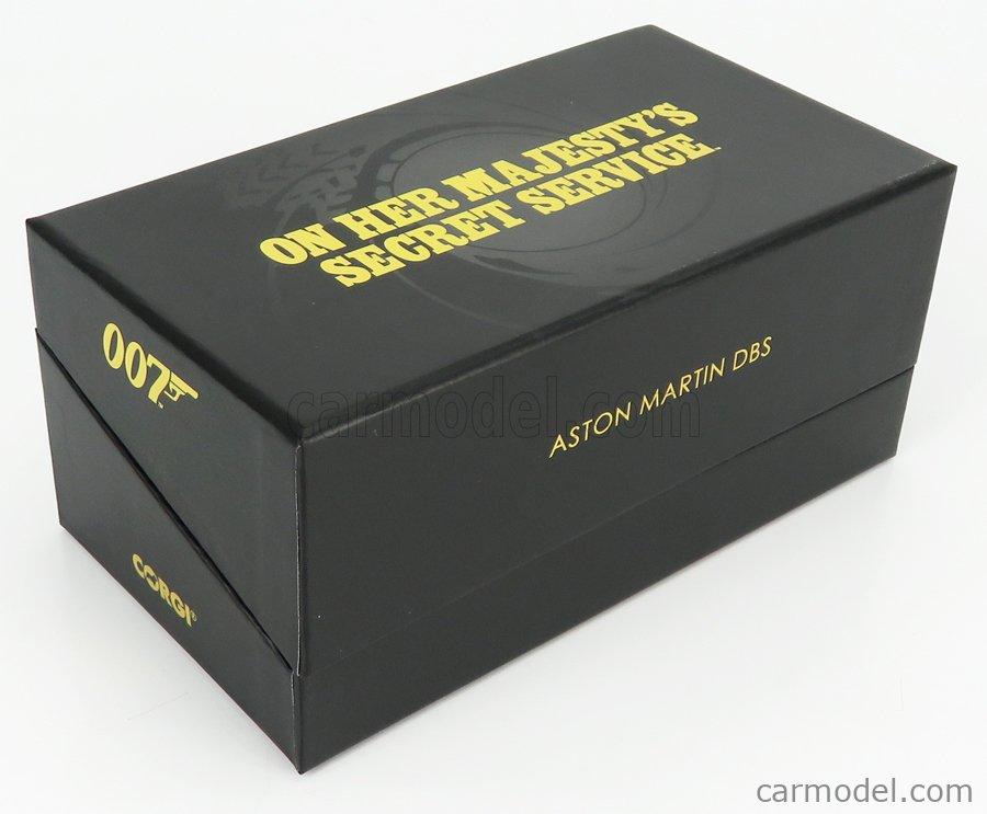 CORGI CC03804 Масштаб 1/36  ASTON MARTIN DBS 1969 - 007 JAMES BOND - ON HER MAJESTY'S SECRET SERVICE - AL SERVIZIO SEGRETO DI SUA MAESTA' GREEN
