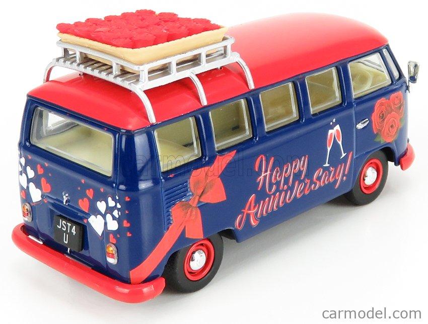 CORGI CC02735 Scale 1/43  VOLKSWAGEN T1 MINIBUS HAPPY ANNIVERSARY 1961 BLUE RED