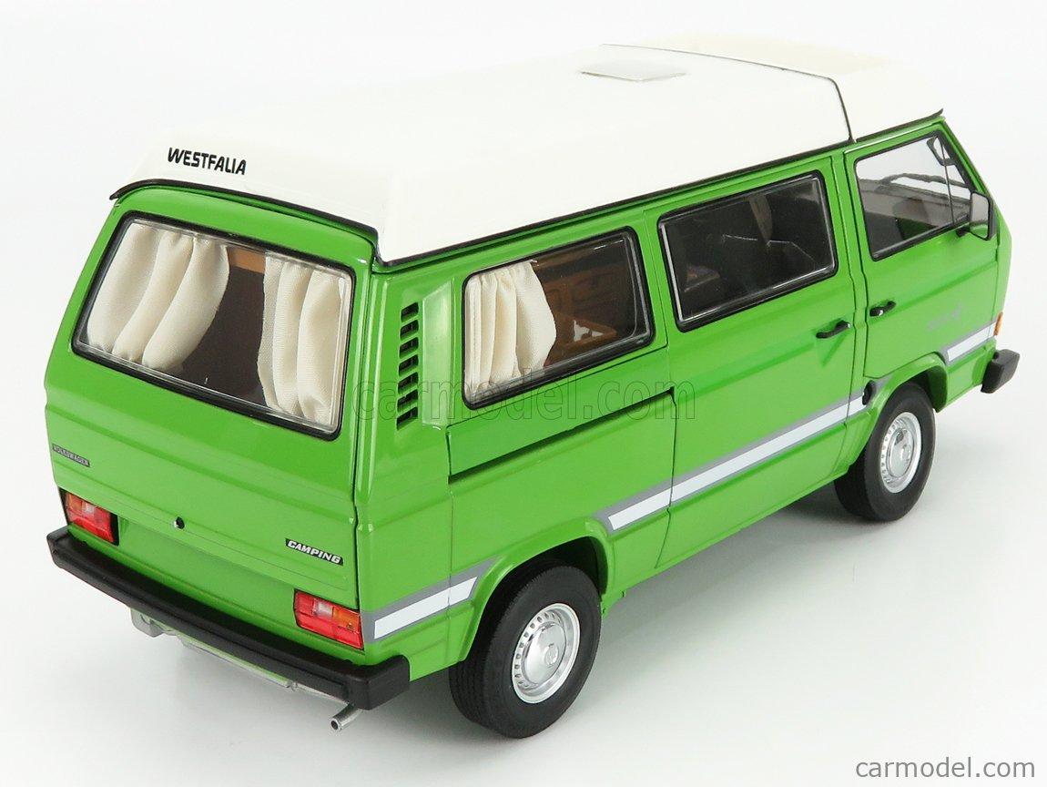 SCHUCO 450038800 Scale 1/18  VOLKSWAGEN T3A MINIBUS JOKER CAMPER 1979 GREEN WHITE