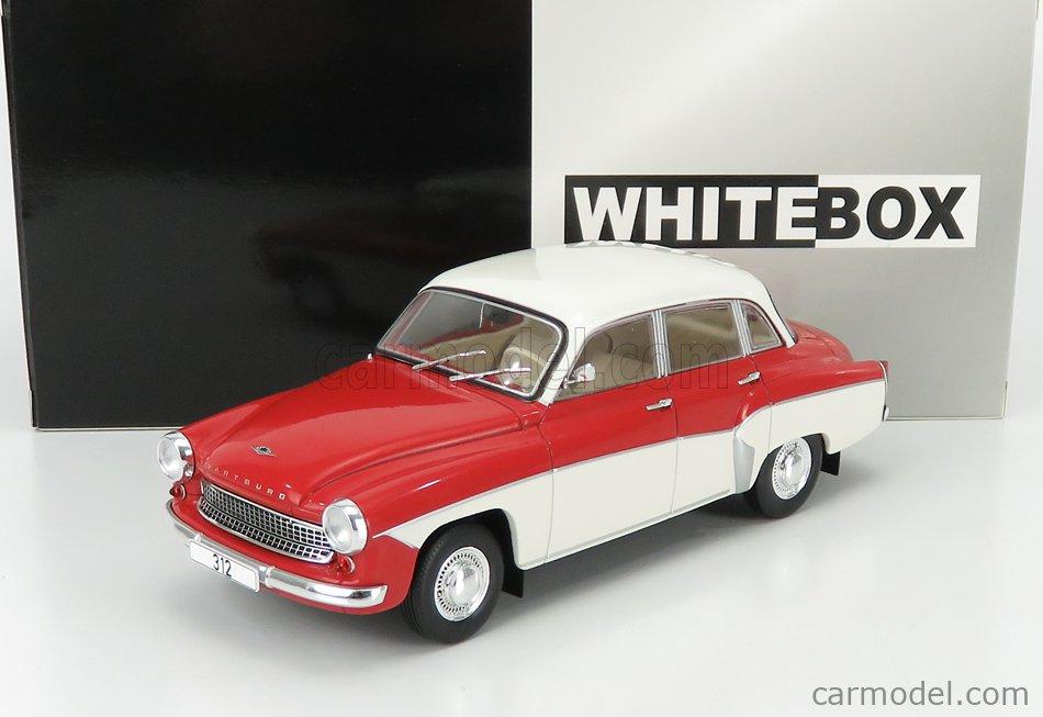 WHITEBOX WB124059 Echelle 1/24  WARTBURG 312 1958 RED WHITE