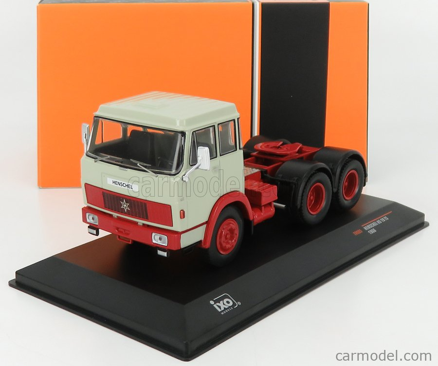 IXO-MODELS TR085 Scale 1/43  HENSCHEL HS19TS TRACTOR TRUCK 3-ASSI 1966 GREY RED