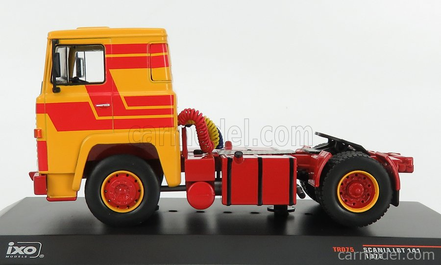 IXO-MODELS TR075 Scale 1/43  SCANIA 141 LBT TRACTOR TRUCK 2-ASSI 1976 YELLOW RED