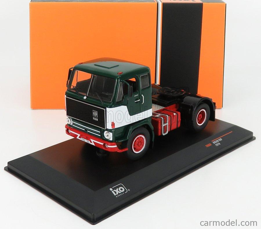 IXO-MODELS TR068 Scale 1/43  VOLVO F89 TRACTOR TRUCK 2-ASSI 1970 GREEN WHITE RED