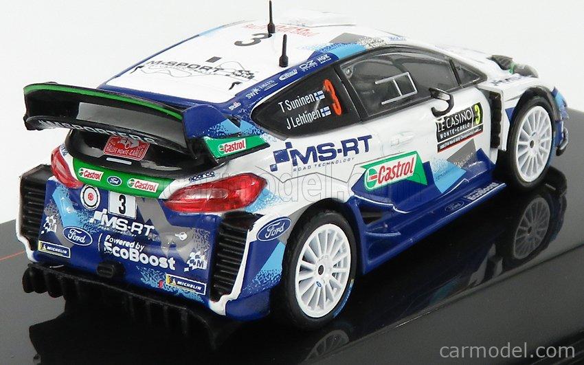 IXO-MODELS RAM745 Scale 1/43  FORD ENGLAND FIESTA WRC TEAM M-SPORT FORD WRT N 3 8th RALLY MONTECARLO 2020 T.SUNINEN - J.LEHTINEN 2 TONE BLUE WHITE