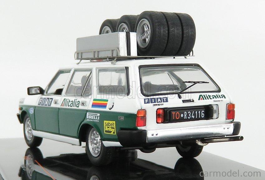IXO-MODELS RAC305X Scale 1/43  FIAT 131 PANORAMA ASSISTANCE RALLY TEAM ALITALIA 1979 WHITE GREEN