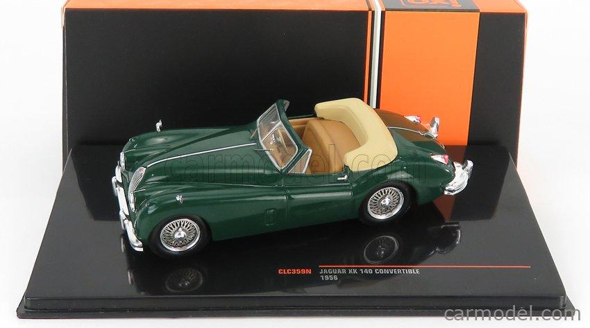 IXO-MODELS CLC359N Scale 1/43  JAGUAR KX140 DHC SPIDER RHD 1956 GREEN