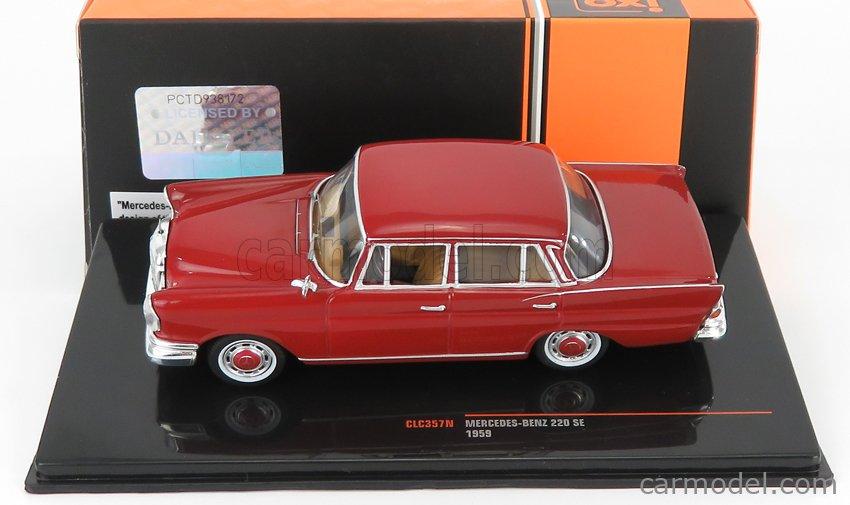 IXO-MODELS CLC357N Scale 1/43  MERCEDES BENZ 220SE (W111) 1959 RED