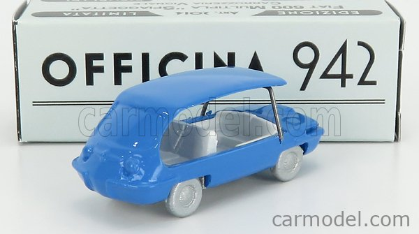 OFFICINA-942 ART2014A Echelle 1/76  FIAT 600 SPIAGGETTA VIGNALE 1957 LIGHT BLUE